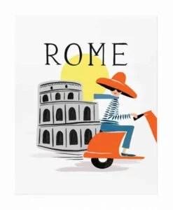 Affiche Rifle Paper Co Bon voyage Rome