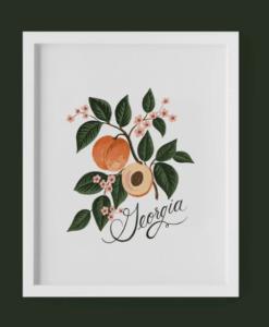 Affiche Rifle Paper Co Georgia Peach