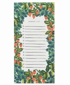 Bloc-notes Rifle Paper Co Strawberry Fields