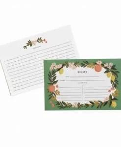 Fiches recettes Rifle Paper Co Citrus Floral  (set de 12)