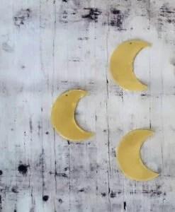 Trio Mini lunes dorées laiton