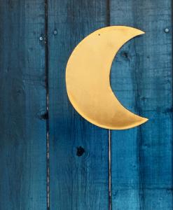 Petite Lune laiton dorée