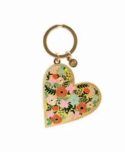 Porte-clés Rifle Paper Co Floral Heart