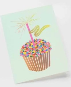Carte anniversaire Rifle Paper Co Cupcake