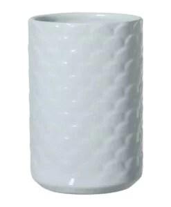 Vase bleu Bloomingville Ecailles
