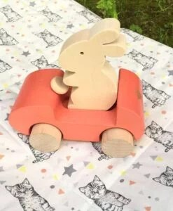 Voiture lapin à pousser Corail Briki Vroom Vroom