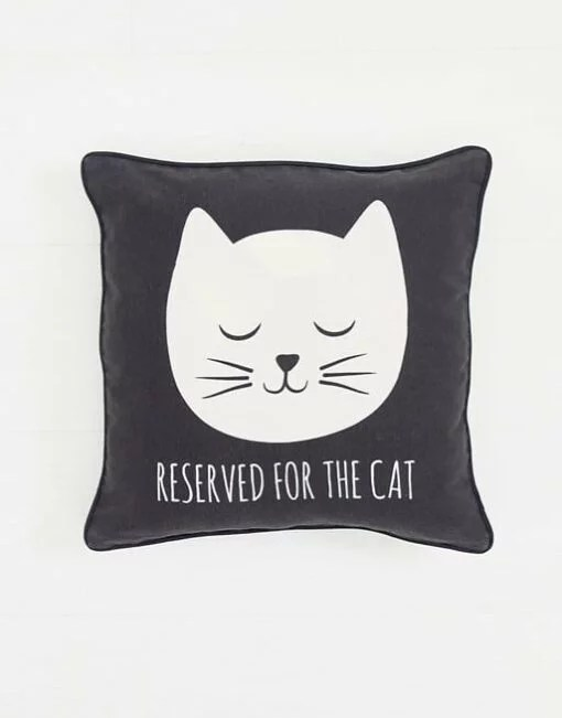 Coussin Tête de chat Sass and Belle
