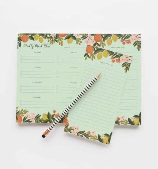 Planificateur de repas Rifle Paper Co Citrus floral