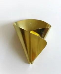 Cornet doré en laiton