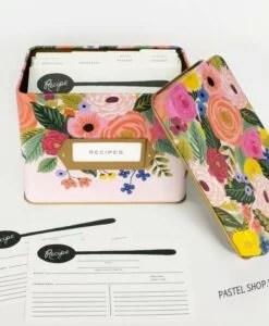 Boîte à recettes Rifle Paper Co Juliet rose