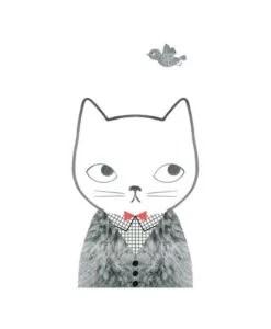 Affiche Chat Grid and Fur Audrey Jeanne / OMM Design