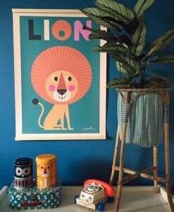 Affiche Lion Ingela P Arrhenius – OMM Design