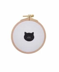 Cadre Silly Billy Tête de chat blanc & noir 10cm