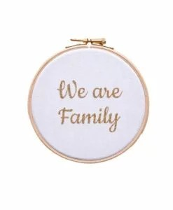 Cadre Silly Billy We are family Blanc Et Doré 20 cm