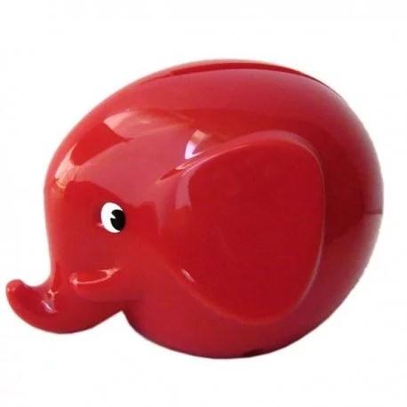 Tirelire éléphant Norsu OMM Design Rouge