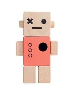 Robot bois Briki Vroom Vroom corail