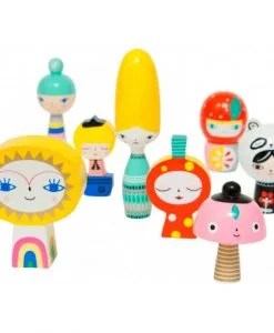 Figurines en bois Mr Sun & Friends