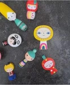Figurines en bois Mr Sun & Friends