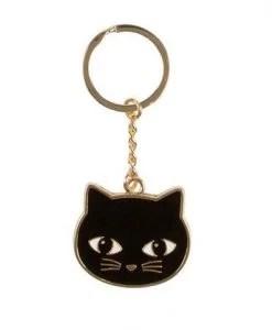 Porte-clés chat noir Sass and Belle