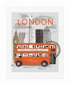 Affiche Londres Rifle Paper Co World Traveler