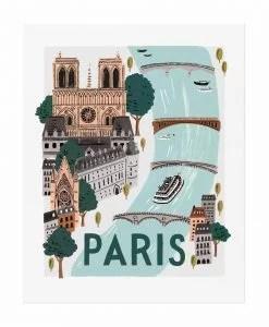 Affiche Paris Rifle Paper Co World Traveler
