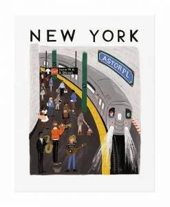 Affiche New York Rifle Paper Co World Traveler