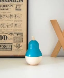 Boîte Poire et ses 10 minis bleu canard