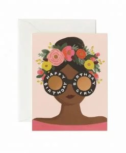 Carte anniversaire Rifle Paper Flower Crown Birthday girl