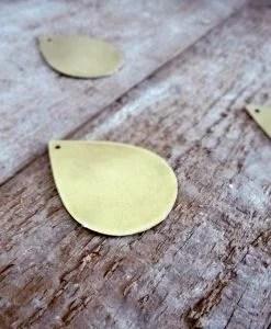 Trio de mini gouttes dorées