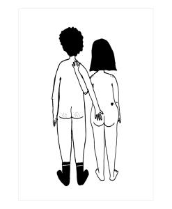 Affiche Couple nu dos Helen B Format au choix A3 / A4