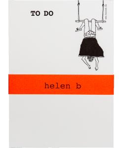 Bloc-notes Trapeze girl Helen B