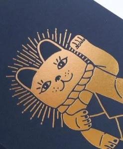 Carnet dos carré Lucky cat Les Editions du Paon