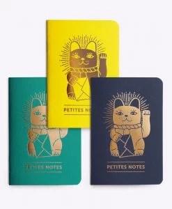Trio de petits carnets Lucky Cat Les Editions du Paon