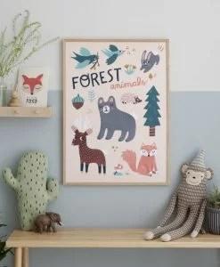 Affiche Animaux de la Forêt Michelle Carlslund