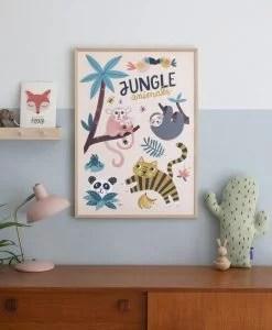 Affiche Animaux de la jungle Michelle Carlslund