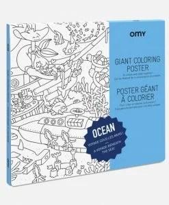 Poster à colorier Océan OMY