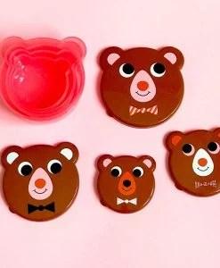 Set de 4 boites à goûter Ours brun Ingela Arrhenius / Omm Design