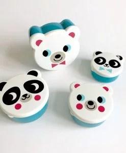 Set de 4 boites à goûter Ours blanc Ingela Arrhenius / Omm Design