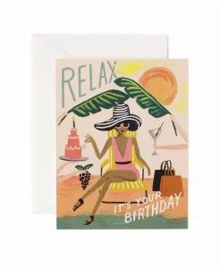 Carte Anniversaire Rifle Paper Co Relax birthday