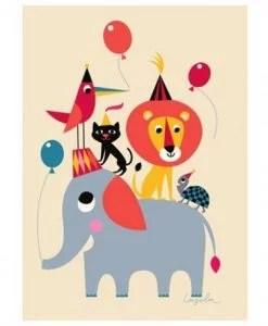 Affiche Animal Party Ingela P. Arrhenius – Omm Design