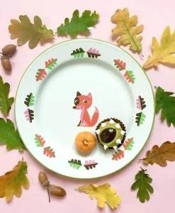 Assiette en émail Ingela P Arrhenius / Omm Design Renard