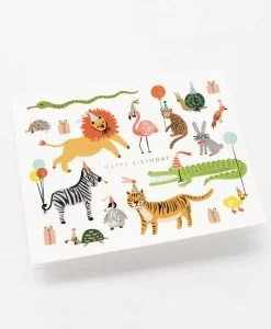Carte anniversaire Rifle Paper Co Party animals