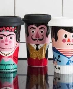 Mug de voyage Frida Khalo Ingela Arrhenius / Omm Design