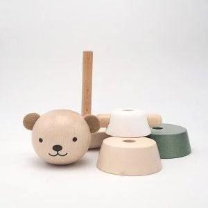 ours en bois empilable