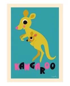 Affiche Kangourou Ingela P. Arrhenius – OMM Design