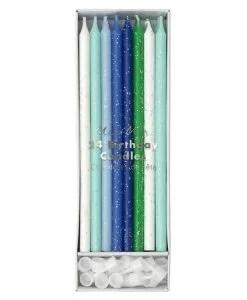 Bougies d'anniversaire bleu Meri Meri