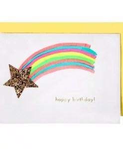 Carte anniversaire étoile filante Meri Meri