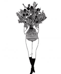 Affiche Flower girl Helen B – Format au choix A3 / A4