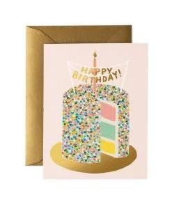 Carte anniversaire Layer cake Rifle Paper