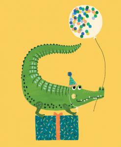 Carte Crocodile festif
